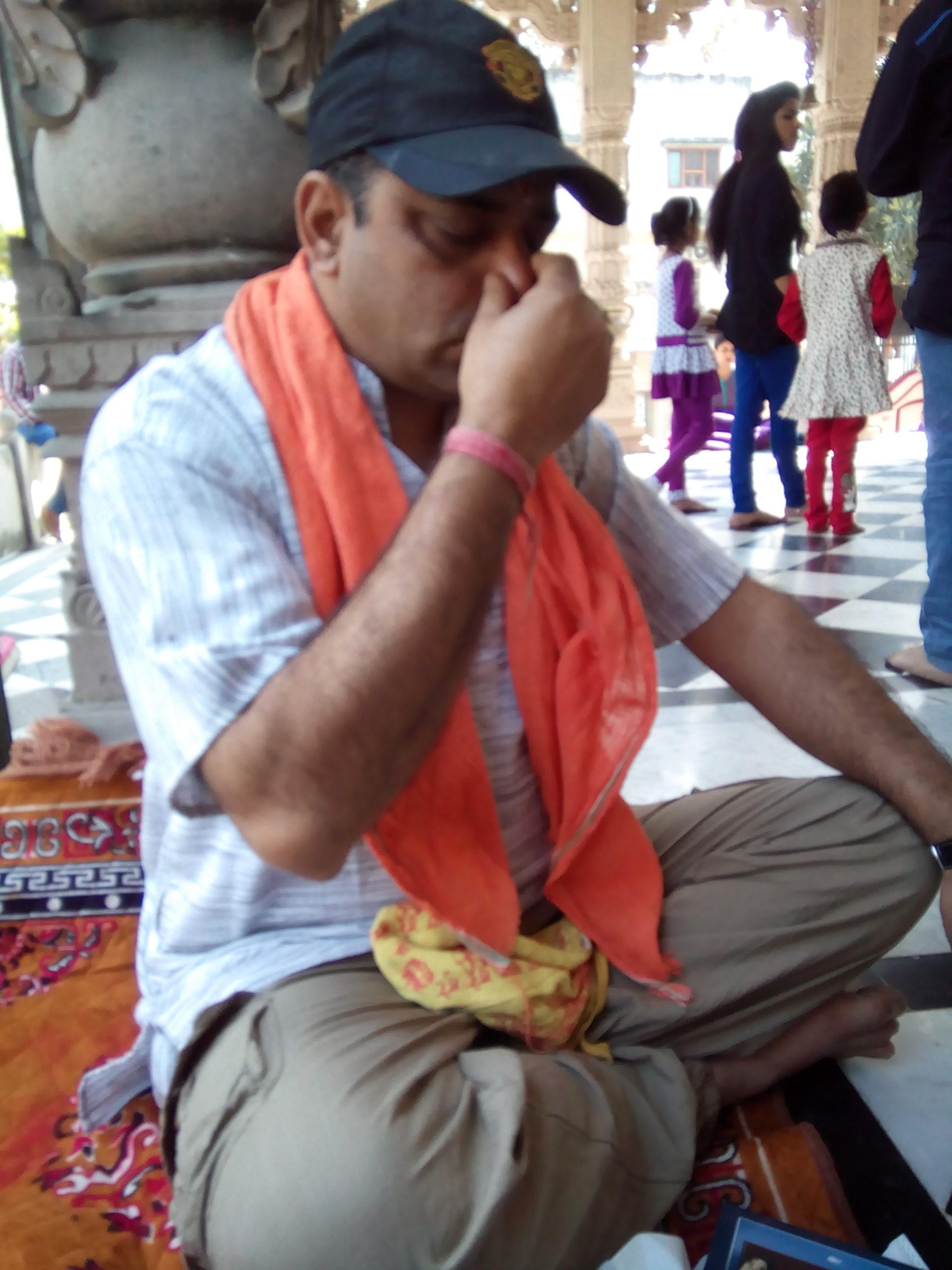 Companion in Pranayam at Harihar Ashram Haridwar