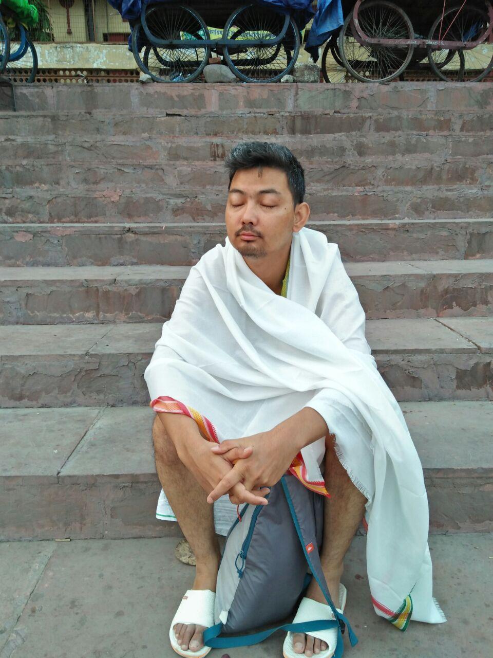 My companion at Rishikesh