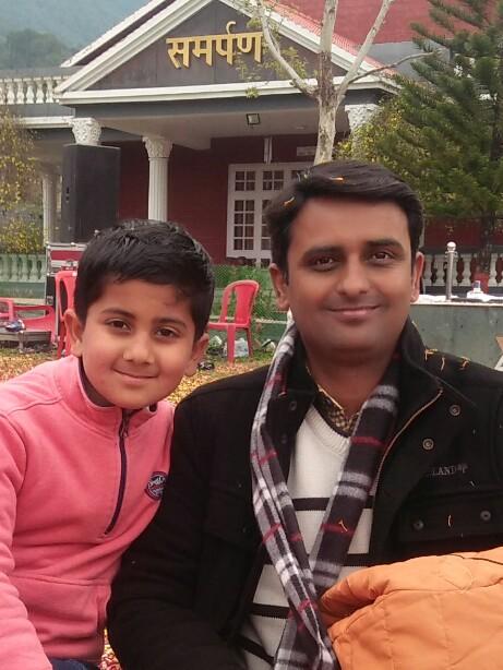 At an Ashram at Palampur with Son